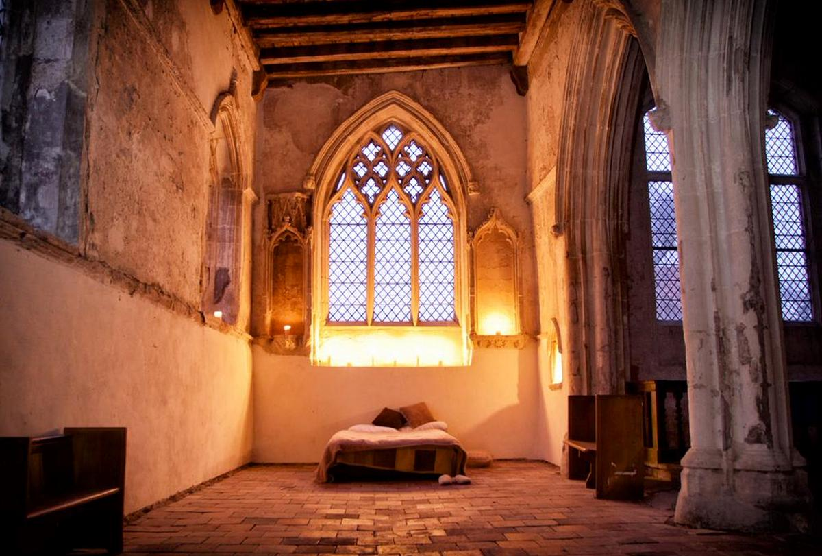 The Churches Conservation Trust is offering a twist on the traditional bed & breakfast, camping by candlelight in a church / Neil Randall/Churches Conservation Trust