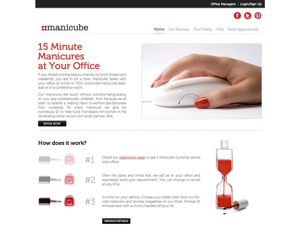 New York-based Manicube offers in-office, 15-minute manicures for US$15