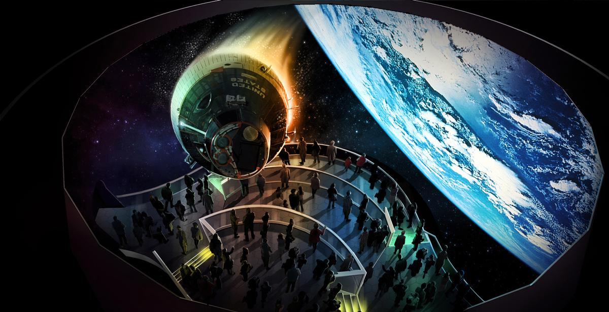 The highlight of the visitor attraction will be a 3D omnidirectional theater / Kennedy Space Center