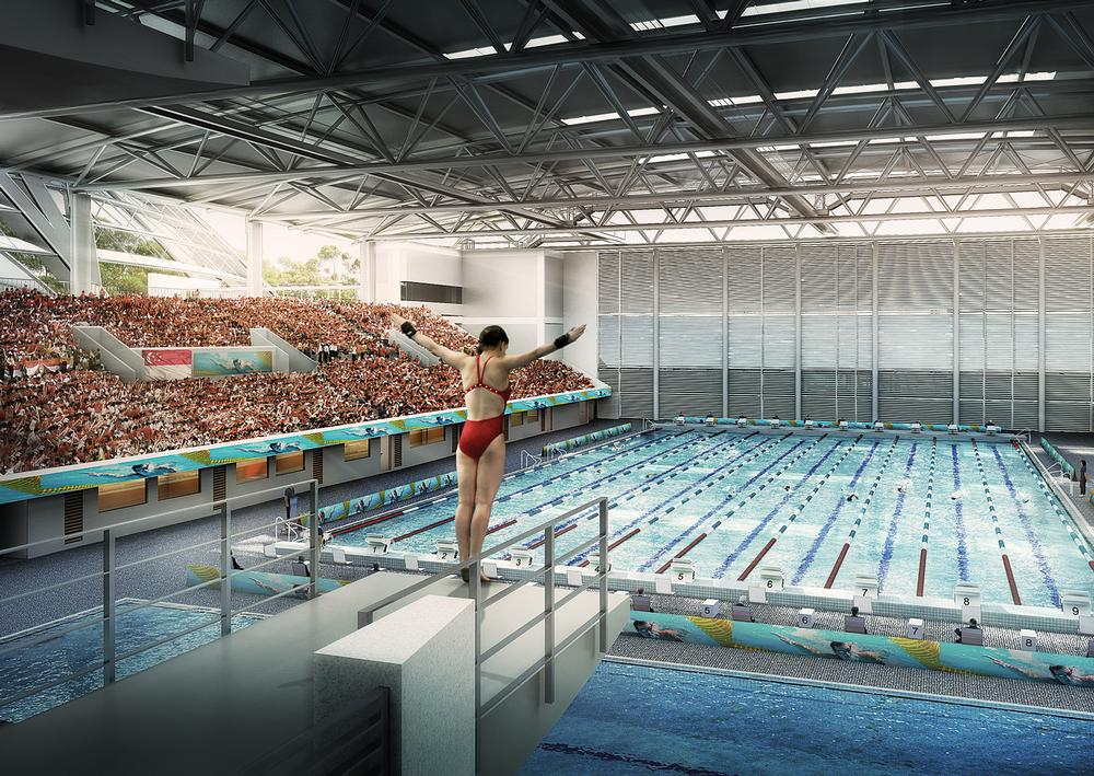 The OCBC Aquatic Centre will include two 50m pools