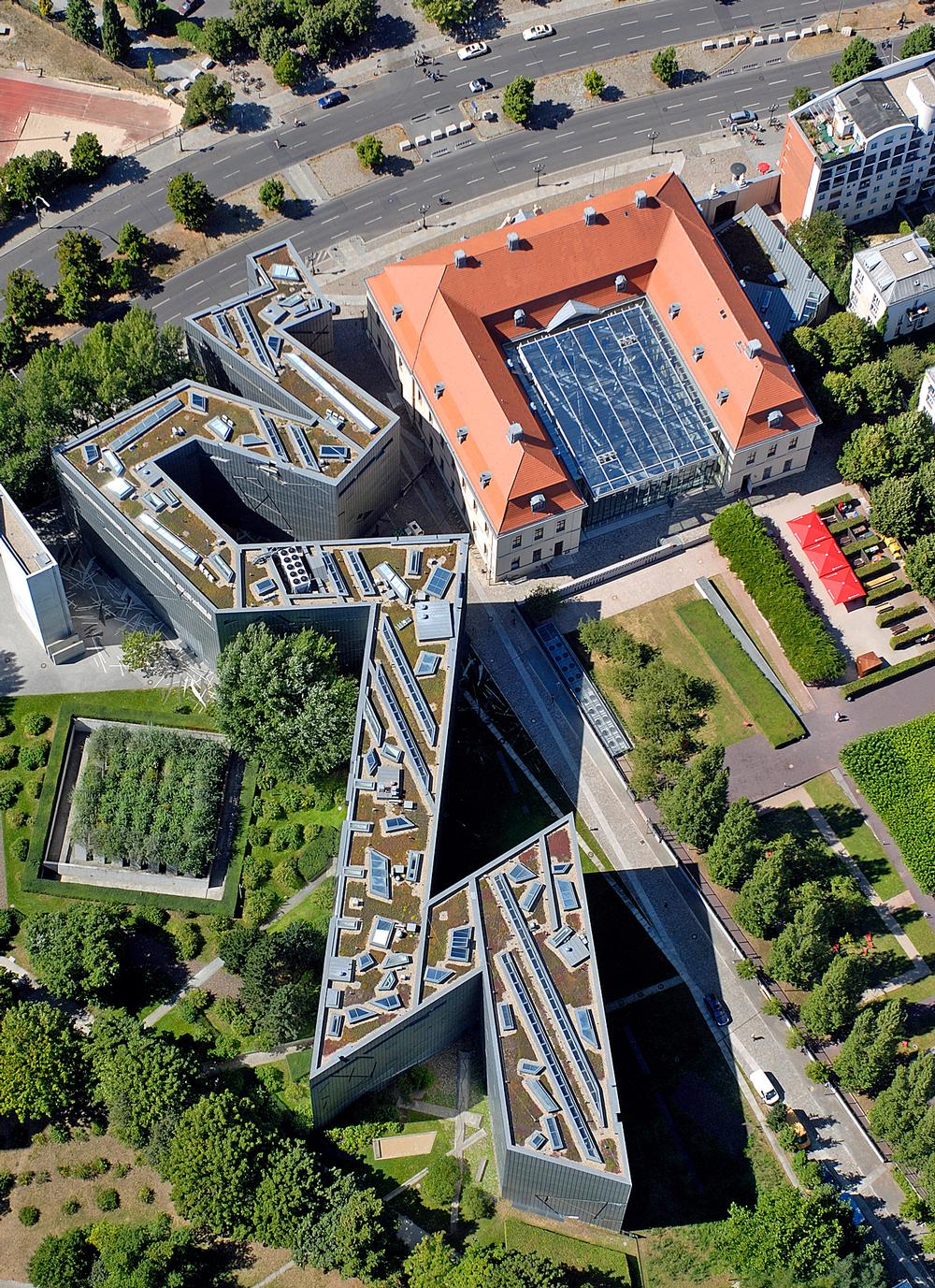 An aerial view of the Jewish Museum in Berlin, Germany / PHOTO: Guenther Schneider