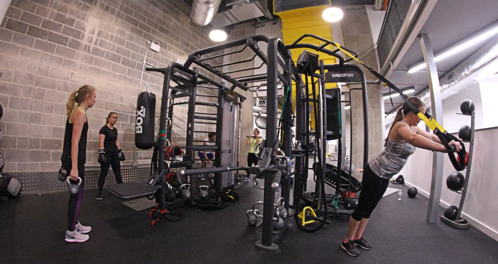 Life Fitness' SYNRGY360 system was installed for group and 1-to-1 training