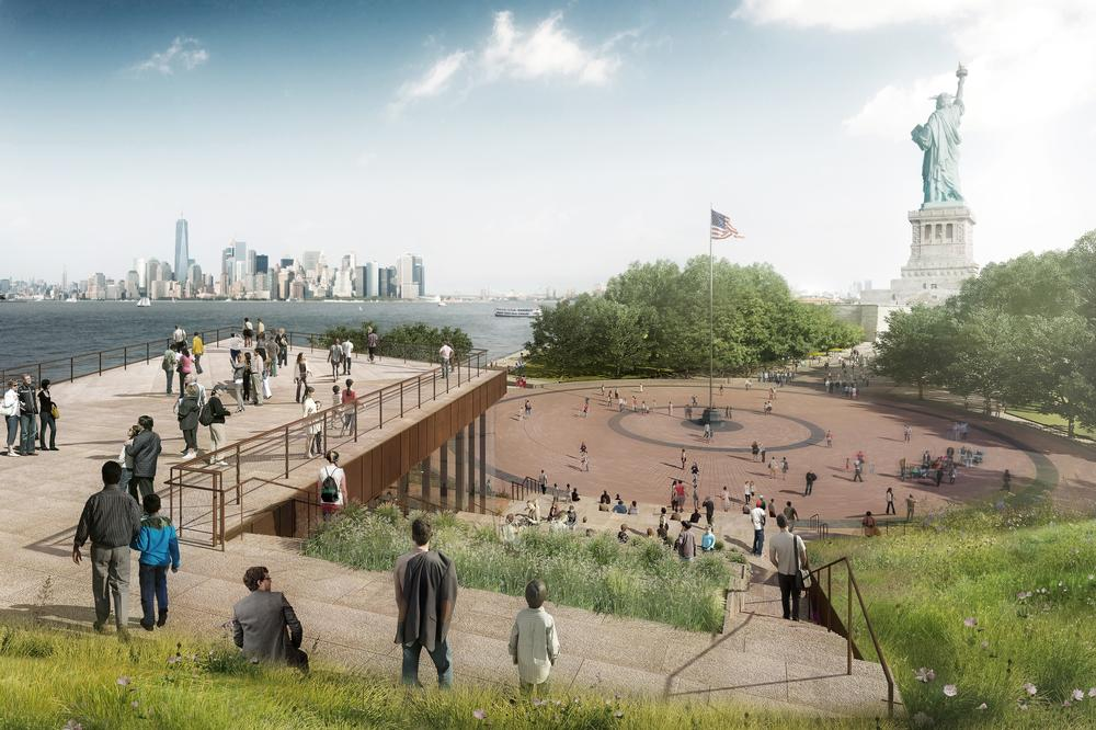 The museum's rooftop observation deck will provide views of the New York skyline and the Statue of Liberty / RENDERS: FXFOWLE