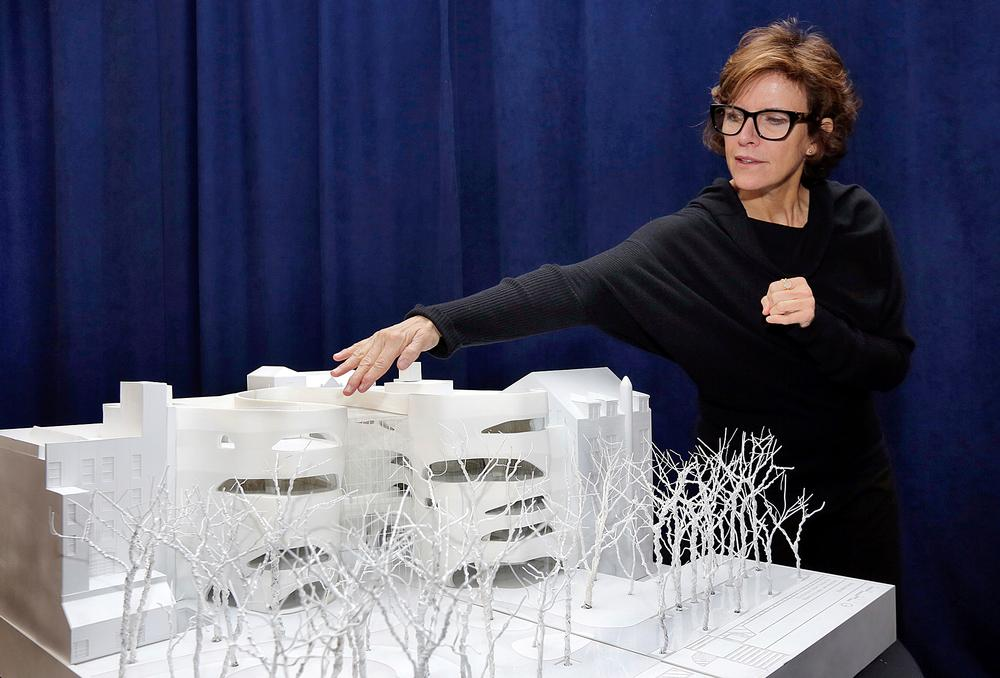 The architectural model of the Gilder Center shows the modern curved buildings in between the older museum buildings / Photo: PA