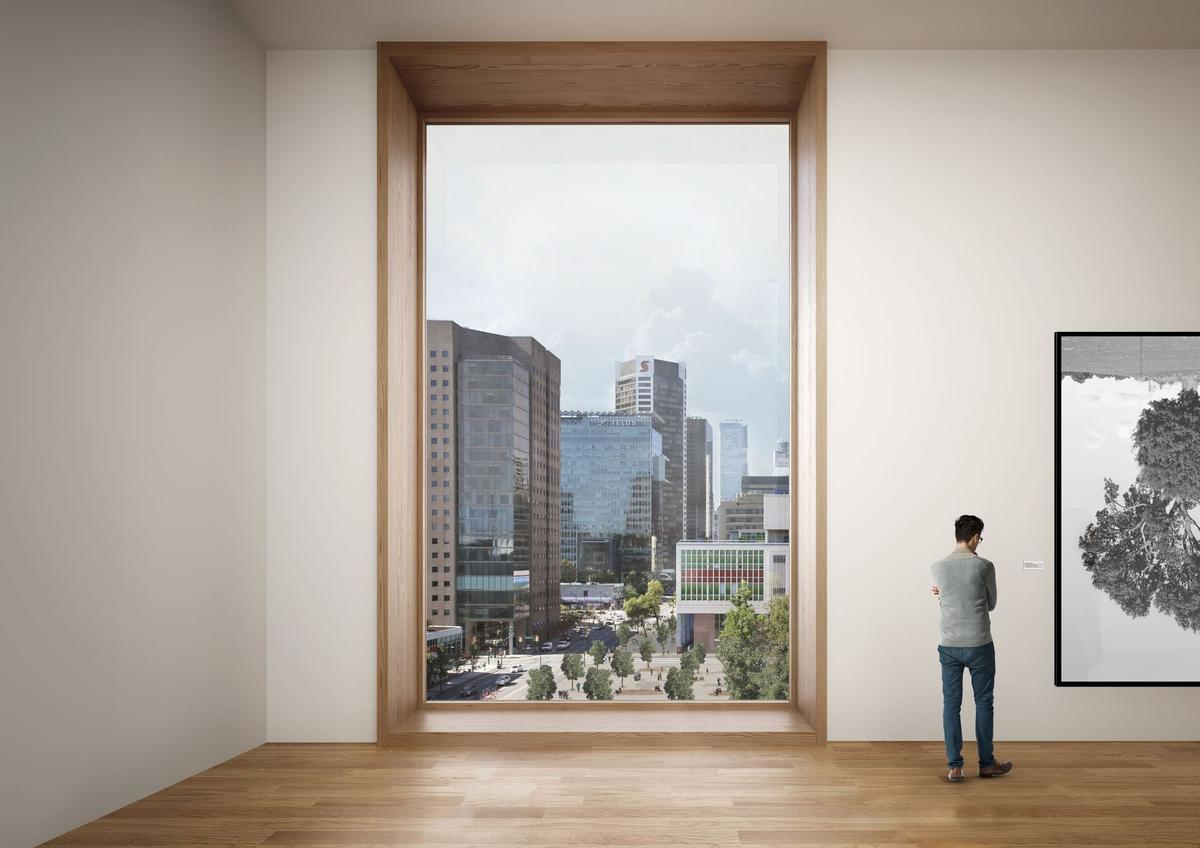 The new gallery, to be located in downtown Vancouver, will be the height of a 20 storey building / Herzog and de Meuron