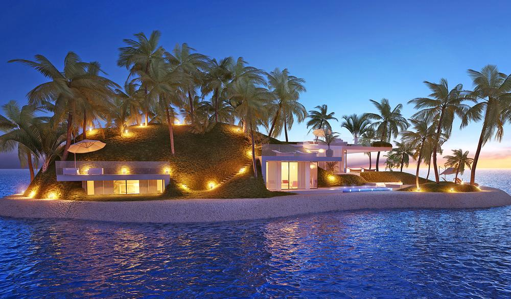 Waterstudio is working on Amillarah floating islands, luxury private properies for Dubai and Miami