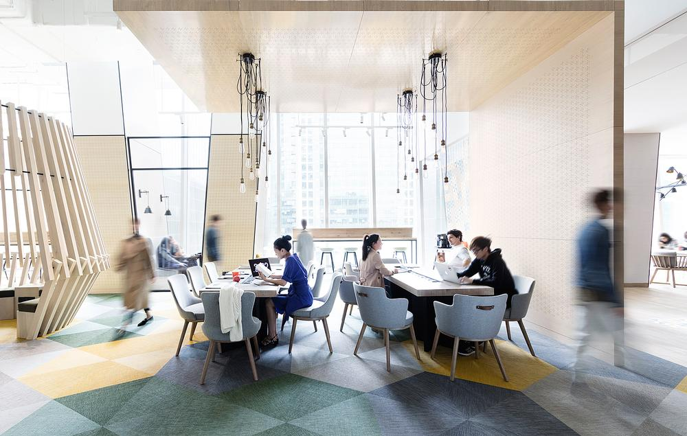 Social spaces feature at Hotel Jen in Beijing, China, designed by Stickman Tribe / PHOTO: WHAT THE FOX STUDIO