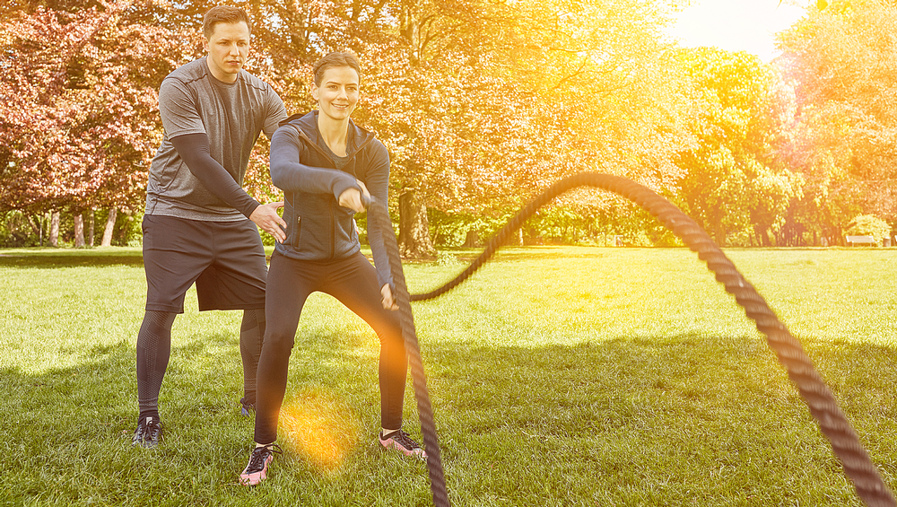 Health and fitness providers could offer more classes and activities outdoors / shutterstock