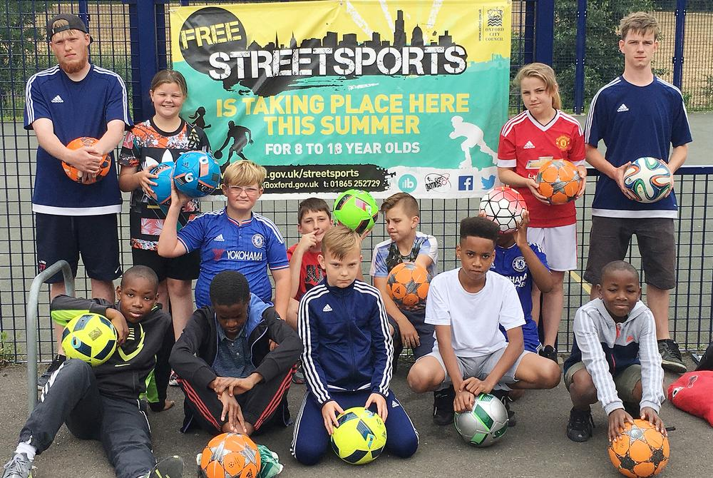 Oxford City Council provides free StreetSports sessions for kids, giving them the opportunity to try a variety of different activities