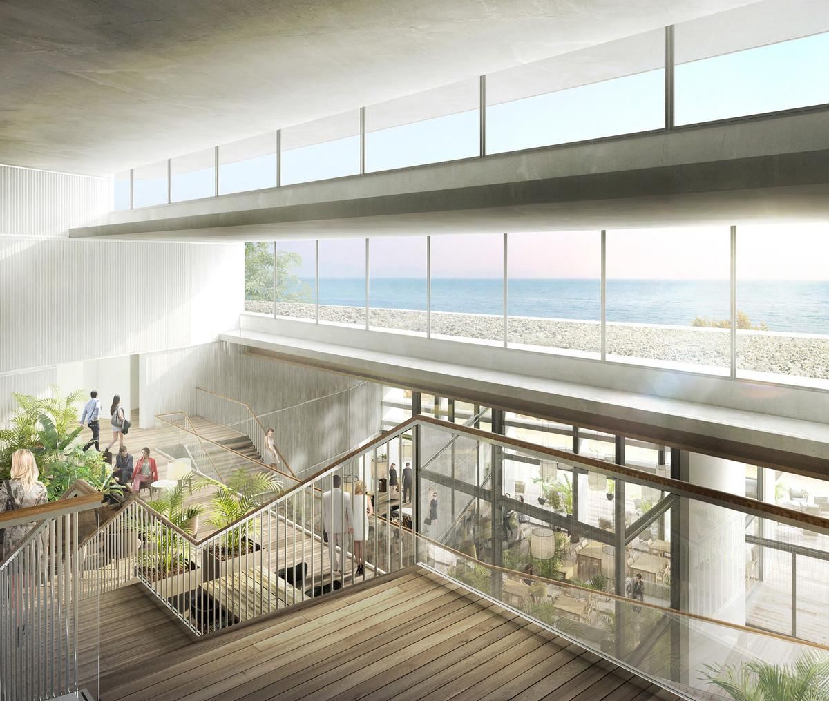 "Designed by Barcelona-based architectural firm OAB (Office of Architecture in Barcelona) and principal architect Carlos Ferrater, the Canyon Ranch development will include a ""strikingly modern"" resort / Canyon Ranch"