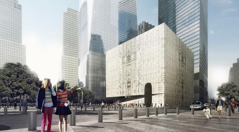 The cube-shaped Perelman Performing Arts Center will allow daylight in during the day and will glow at night
