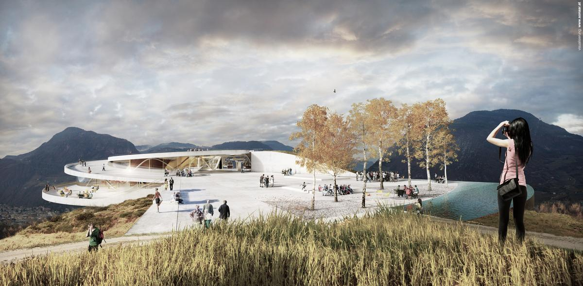 The project at both its base and peak will be themed around nature, with the station at the top forming a tourist attraction / Snøhetta Architects