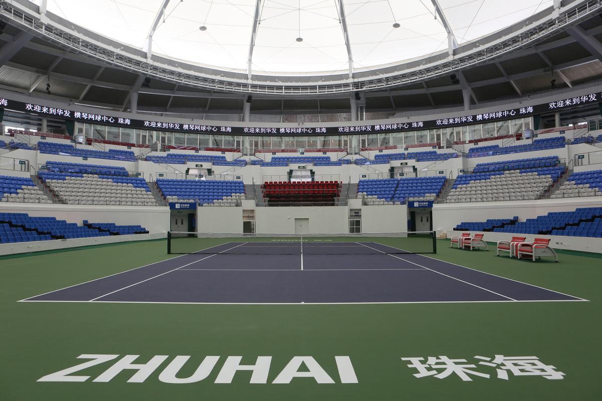 The centre court can seat 5,000 tennis fans / Populous