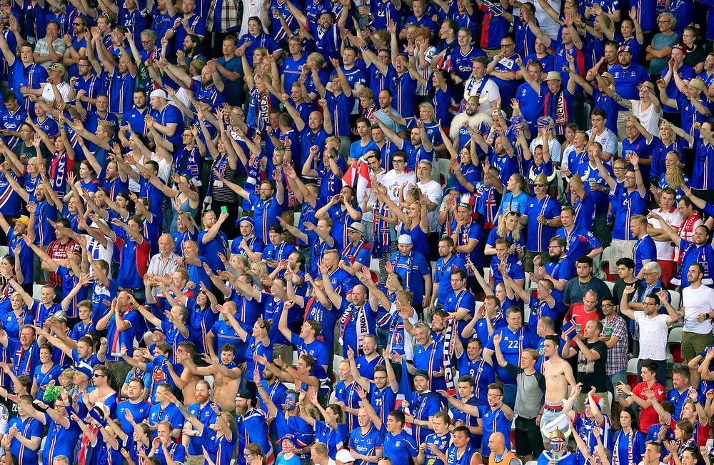 30,000 Icelanders travelled to France to support the national team at Euro 2016 / Jonathan Brady / press association