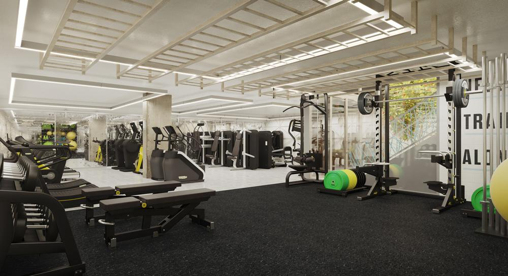 High-tech equipment is central to the Fitness Space experience