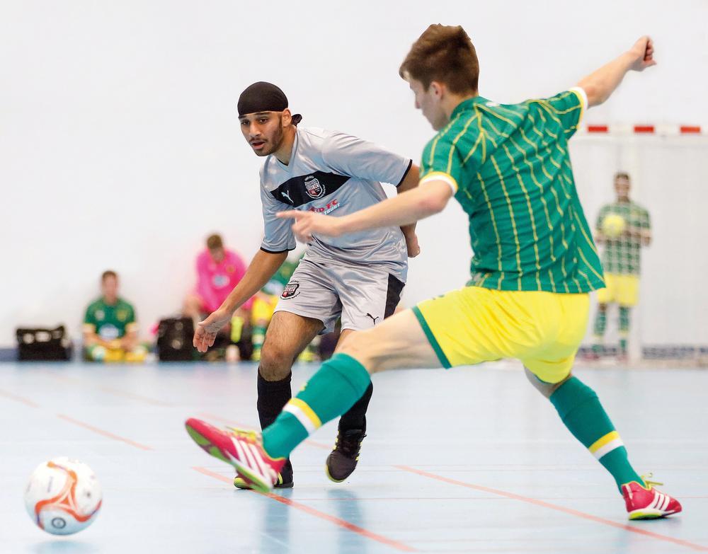 Brentford plays Norwich at futsal game. Brentford FC Community Sports Trust also offers  kids futsal sessions