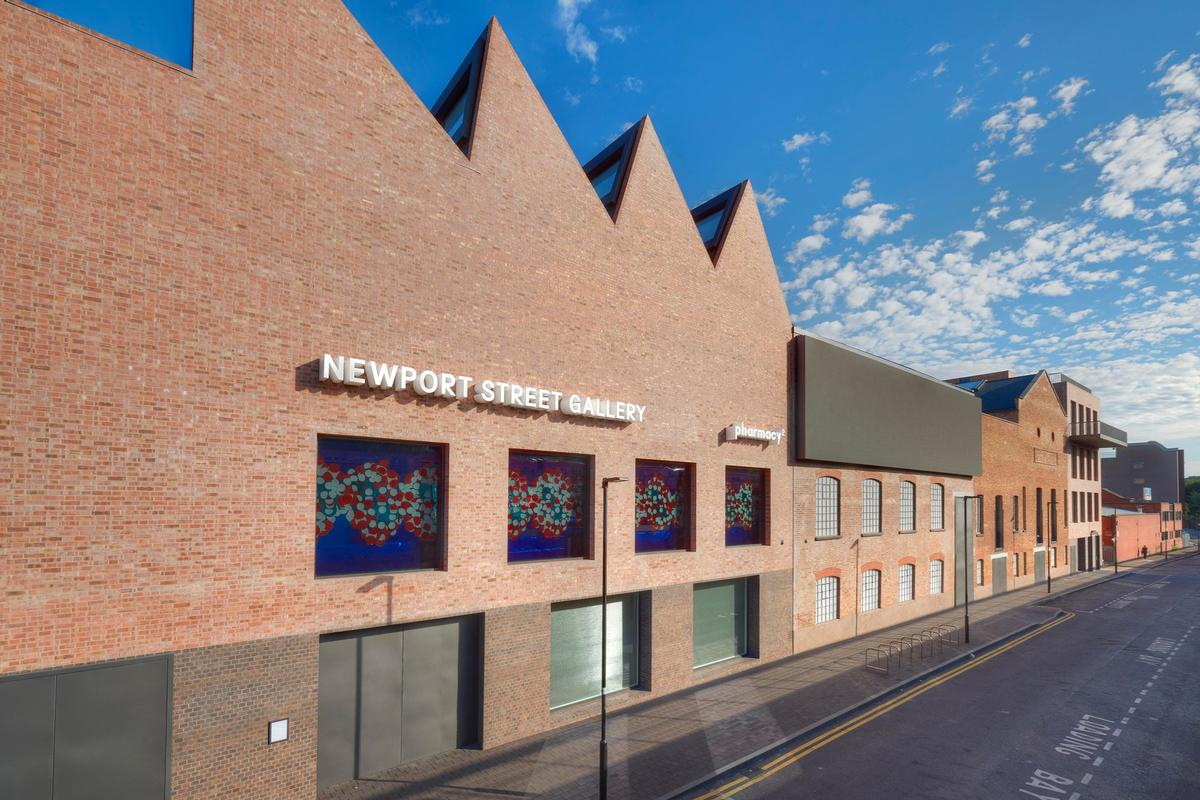 Damien Hirst's Newport Street Gallery comprises a string of three listed theatre production warehouses and two new buildings
