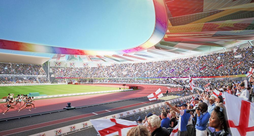 Birmingham's Alexander Stadium is being redeveloped to host the athletics events