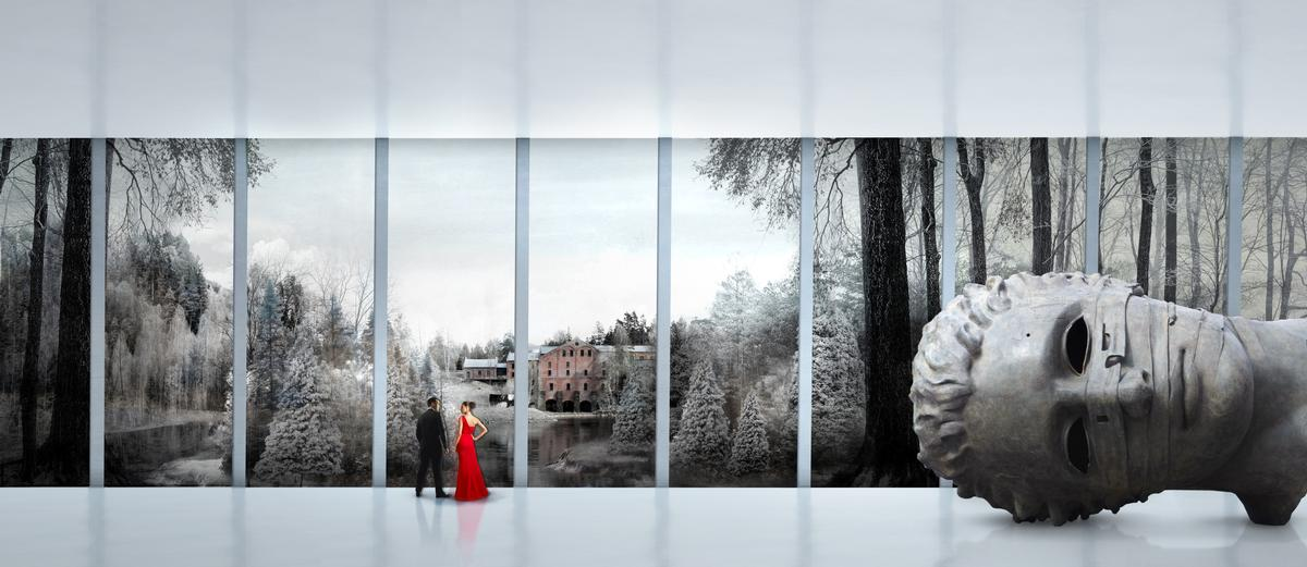 Large insulated glass panels will use a reflective UV film to keep out any light that could damage the art / Bjarke Ingels Group