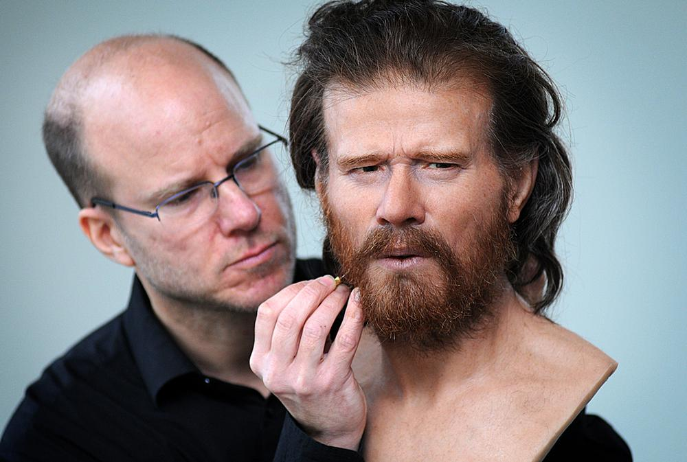 Forensic artist Oscar Nilsson has recreated the face of an early Neolithic man