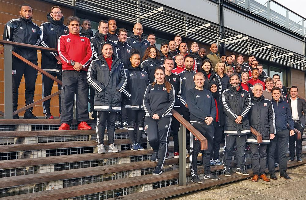 Staff and volunteers at Brentwood Football Club Community Sports Trust