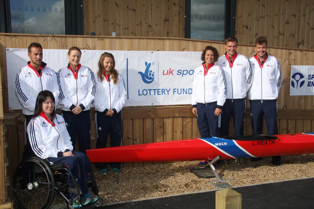 Britain's best canoe athletes were on-hand at the launch / British Canoeing