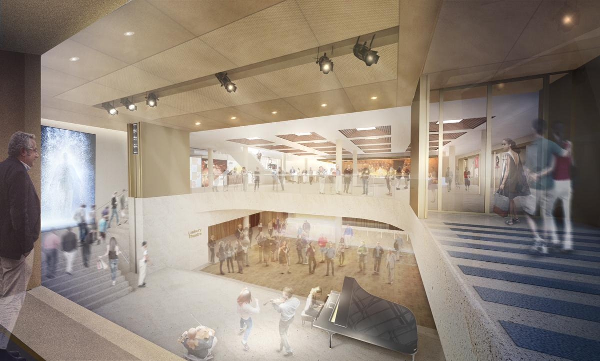 The main foyer will be opened up and become a light, airy public space / Stanton Williams