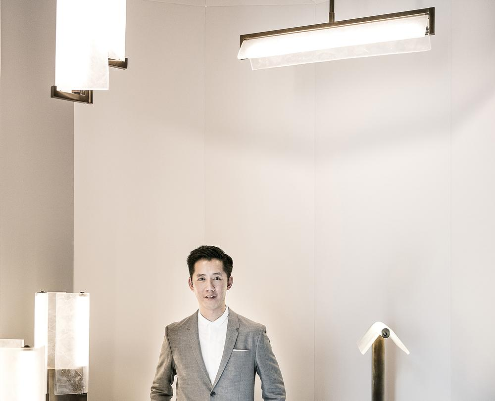 Fu is expanding beyond architecture with a range of lighting products and also rug designs and fragrances