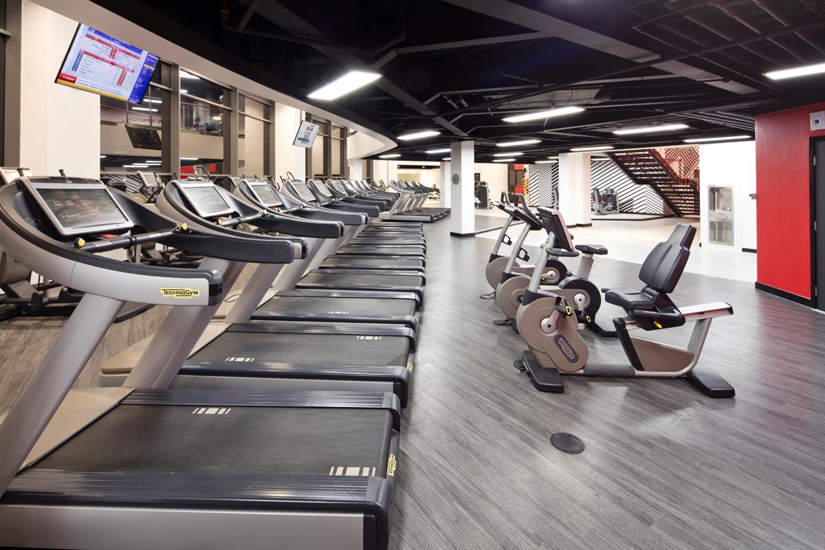 The expanded gym floor features a range of Technogym equipment
