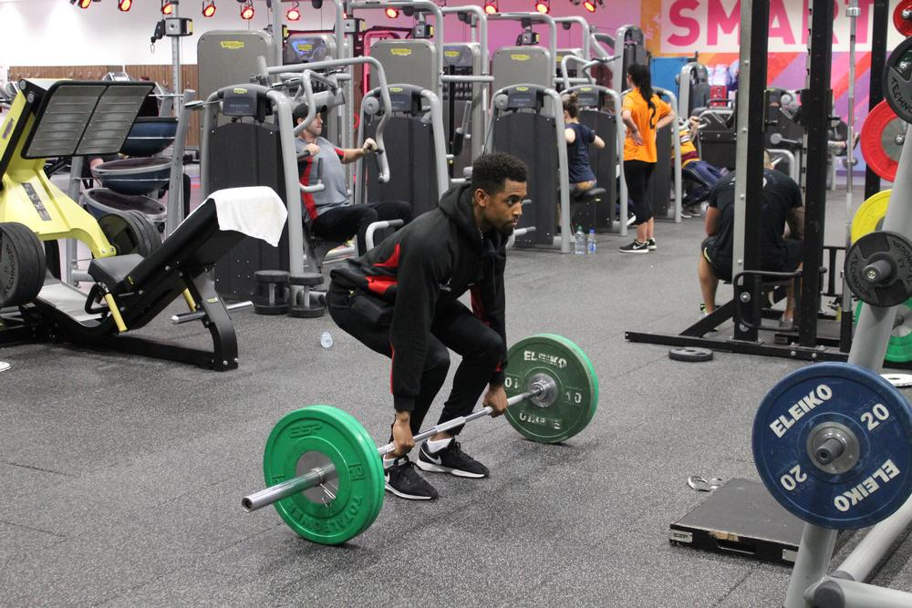 The new floor minimises noise and vibration originating in the free weights area