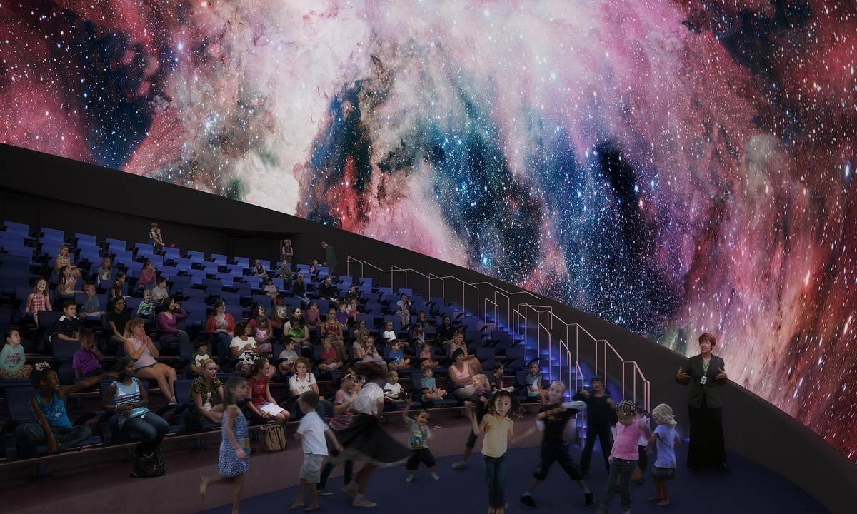 A planetarium will form part of the 'living core' / Frost Museum of Science