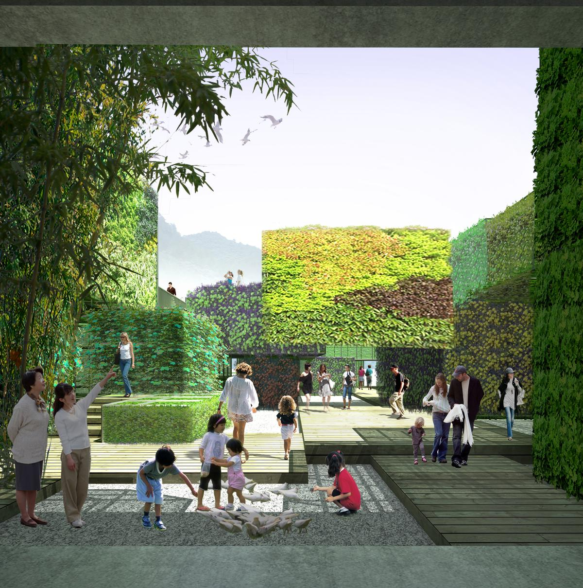 The architects say 'It can be an ecological experimental base and a place where children can get close and explore nature' / Studio Pei-Zhu