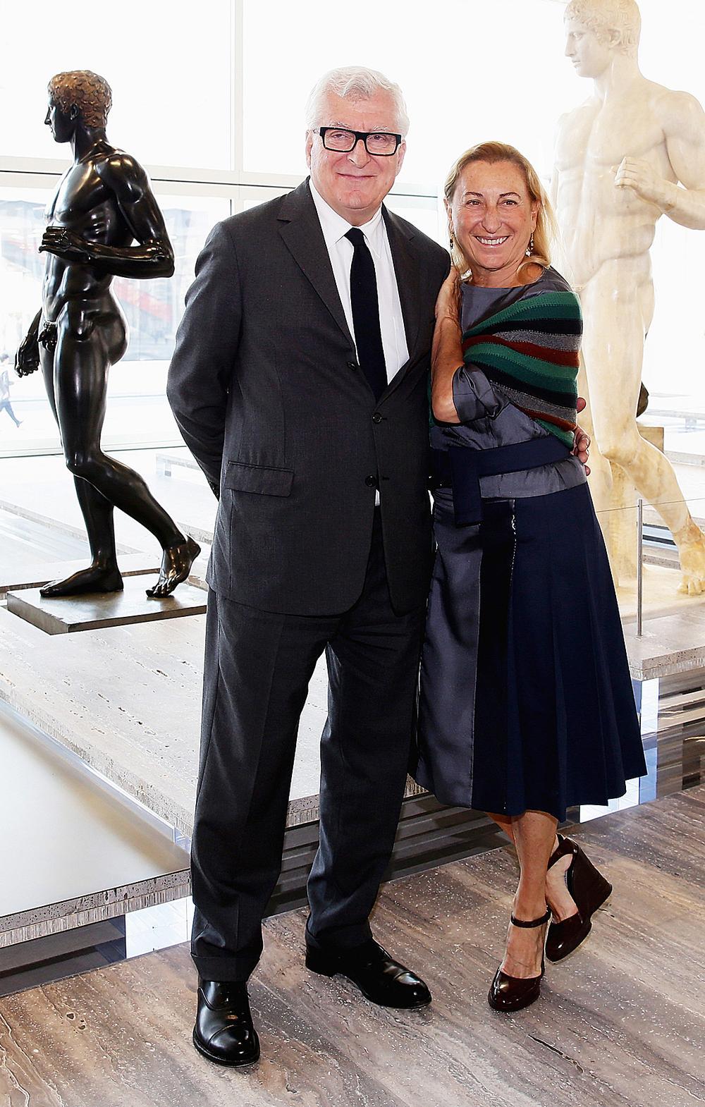 Miuccia Prada with her husband Patrizio Bertelli, CEO of Prada. Miuccia is co-CEO of Prada / Attilio Maranzano courtesy of Fondazione Prada