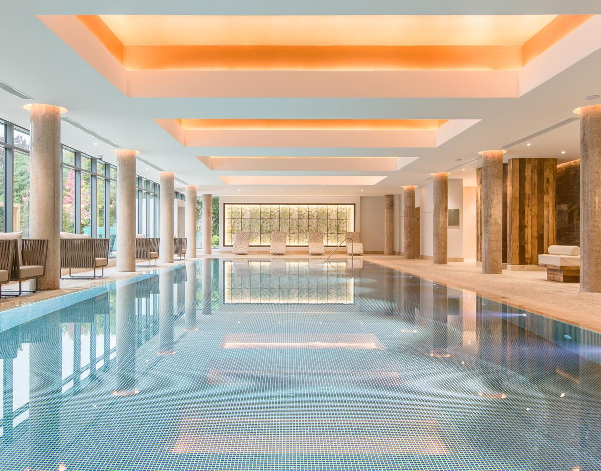 A new heated indoor relaxation pool is part of the Thermal Spa Village / Galgorm