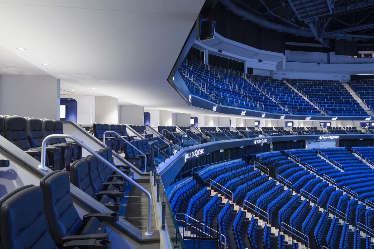 The design includes an array of premium spaces and seating