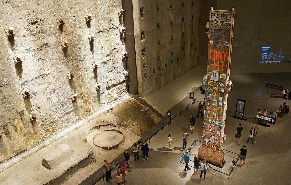 Foundation Hall features the 'slurry wall' and the 36ft-high 'last column' covered with inscriptions, missing posters and mementos / PHOTO: AUGIERAY ON FLICKR