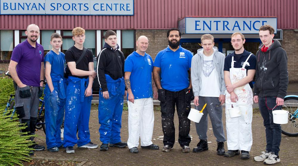 John Bunyan Sports Centre is being refurbished with the help of volunteers aged 14-19