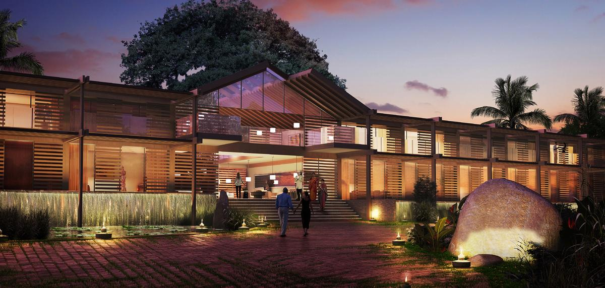 The resort will contain a hotel, organic restaurant, villas and character retreat spa. / Mohsin Cooper