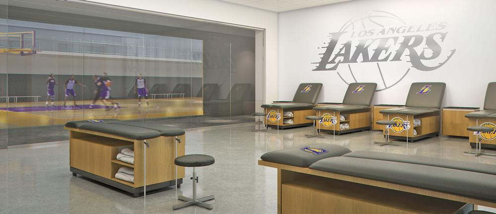 The new facility includes a sports massage room, a players' lounge and a weights training studio