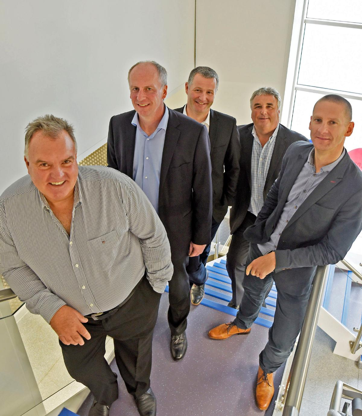 Treharne and his top team have built a business valued at £250m from scratch / The Gym Group