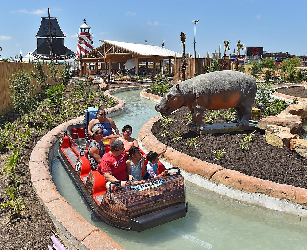 The jungle-themed riverboat ride is fully wheelchair accessible
