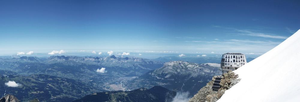 Sitting 3,800m up Europe's highest mountain on the Aiguille du Goûter, the Refuge du Goûter, with its spectactular views, took eight years to bring to fruition