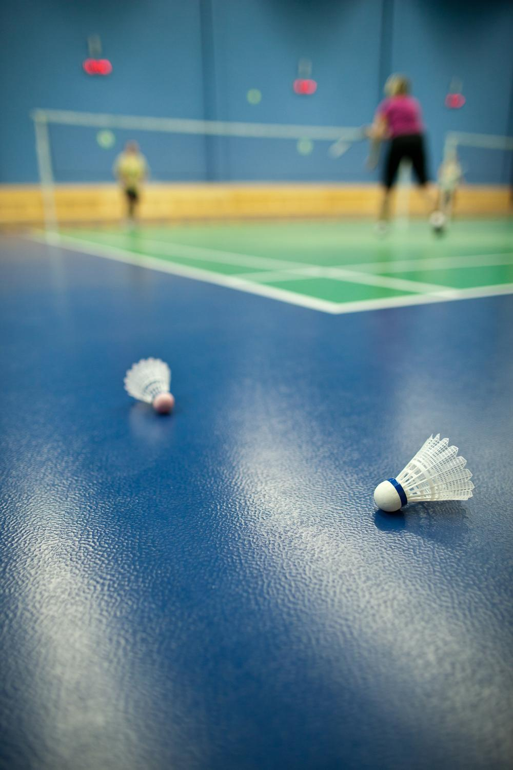 In the sports hall, aim for only one set-up and one pull-down per evening