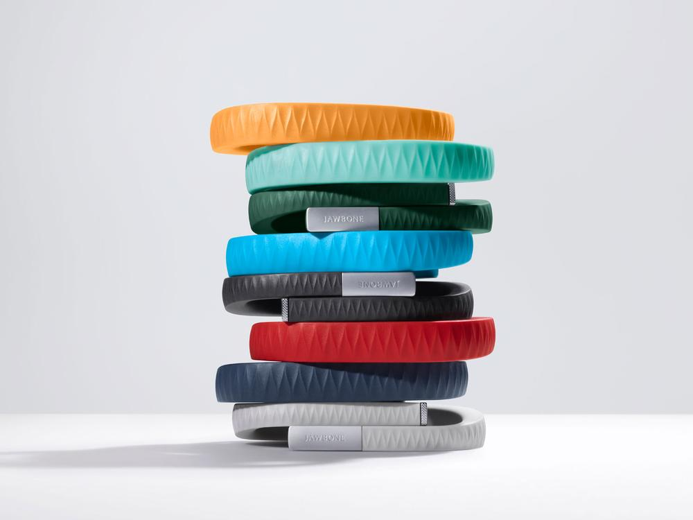 Jawbone UP is worn on the wrist to continuously collect activity data and monitor sleep patterns