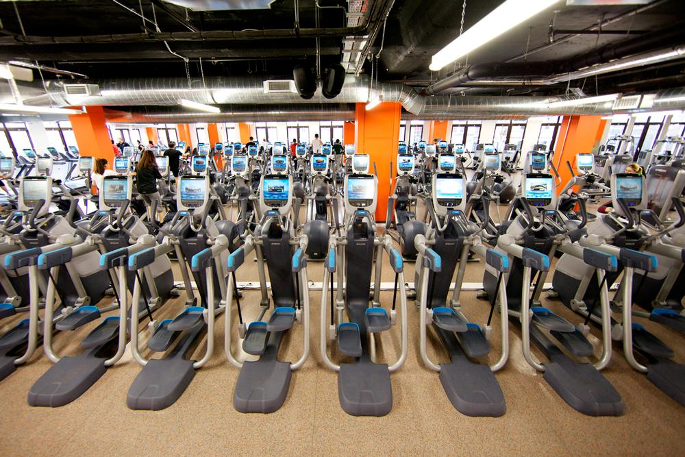 The gym houses 42 Precor treadmills, 30 cross-trainers, 27 bikes and 14 AMTs