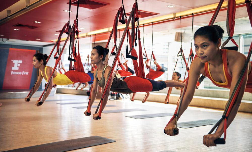 The company is considering standalone yoga studios