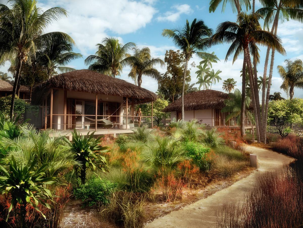 The large spice garden will provide spices and oils for the resort / Jestico + Whiles