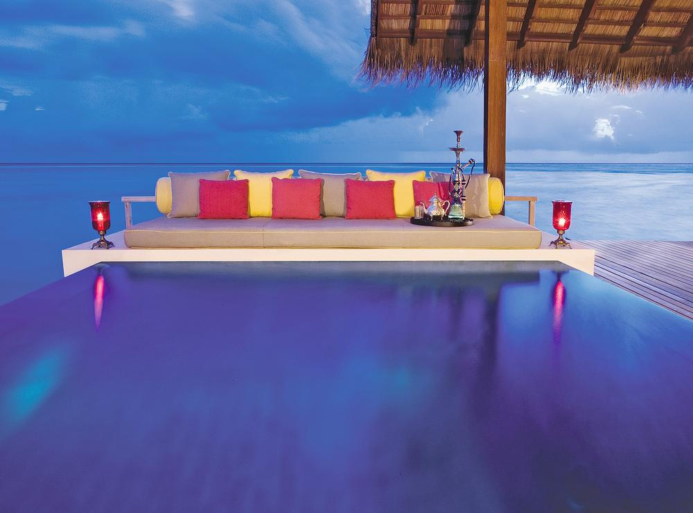 The One&Only Reethi Rah in the Maldives features stilted villas and private beaches