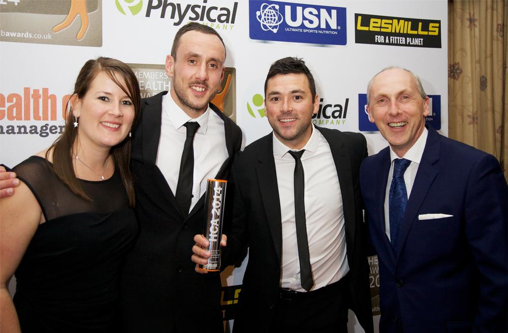 Rick Thompson and his team from i-motion Gym collect the gold for Best Budget Club in Yorkshire