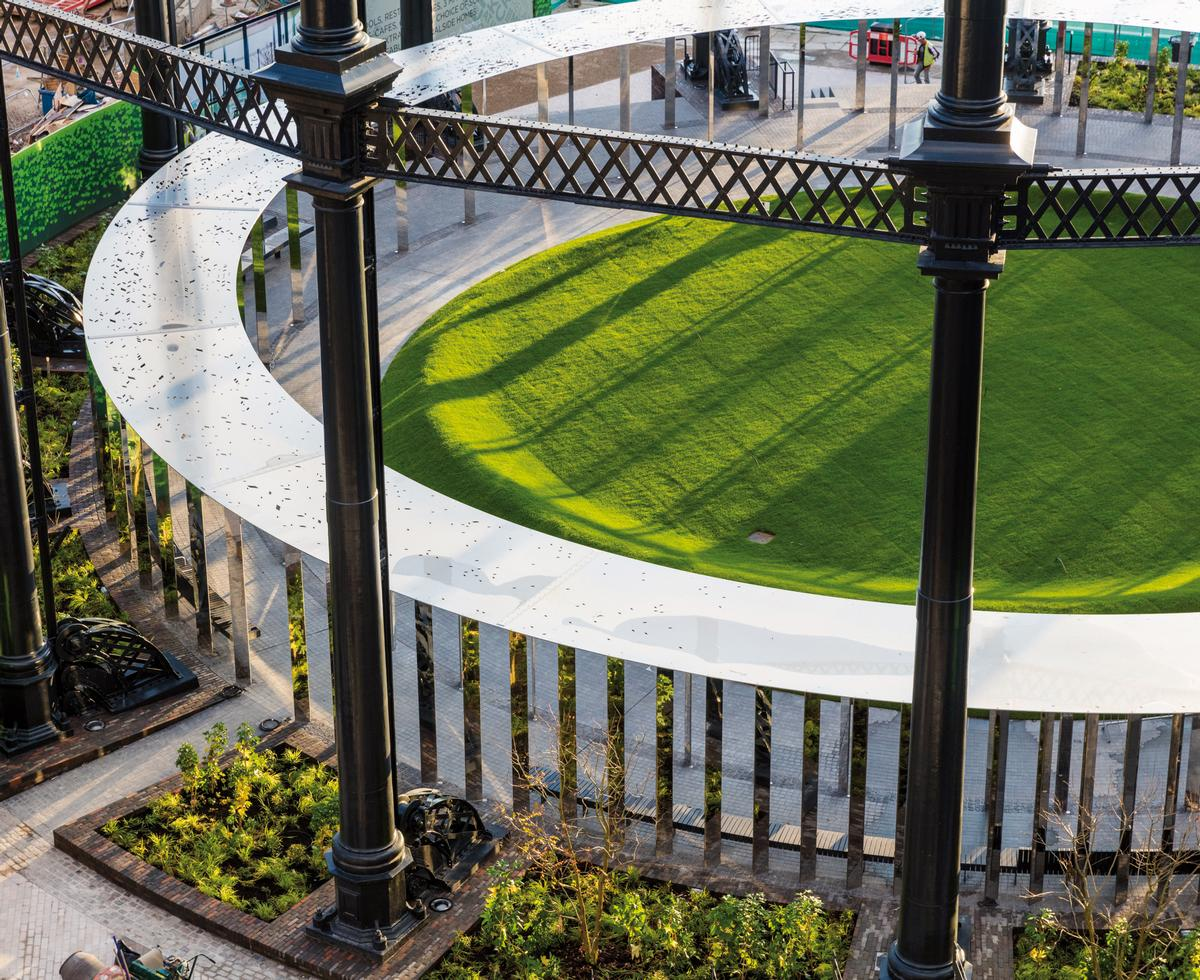 The Grade II listed gasholder was the largest in London's gas works / Bell Phillips Architects
